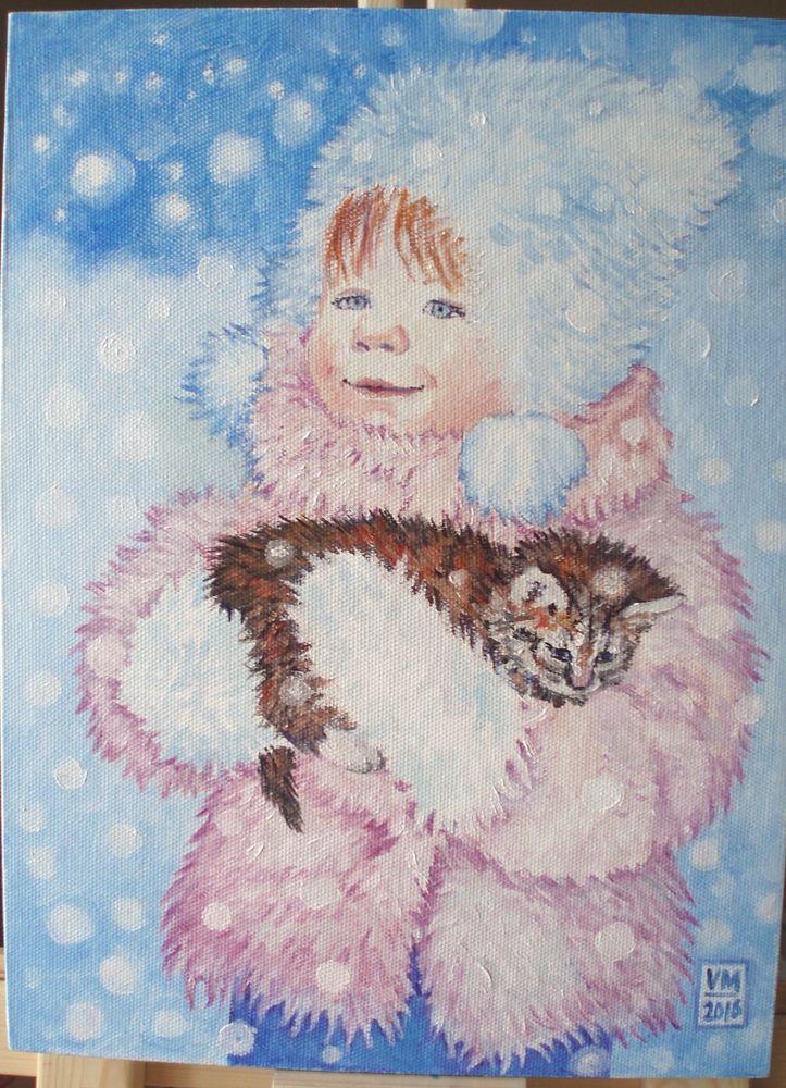 голубой, снег, детям
