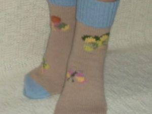 Скидка на вязаные носочки 15 — 20%. Ярмарка Мастеров - ручная работа, handmade.