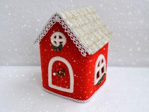 Валяем уютный новогодний домик. Ярмарка Мастеров - ручная работа, handmade.