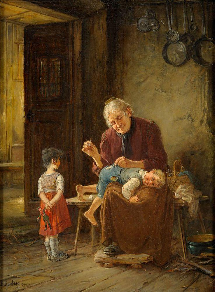 Когда есть чем заняться — стареть некогда: душевные картины о бабушках-рукодельницах, фото № 47