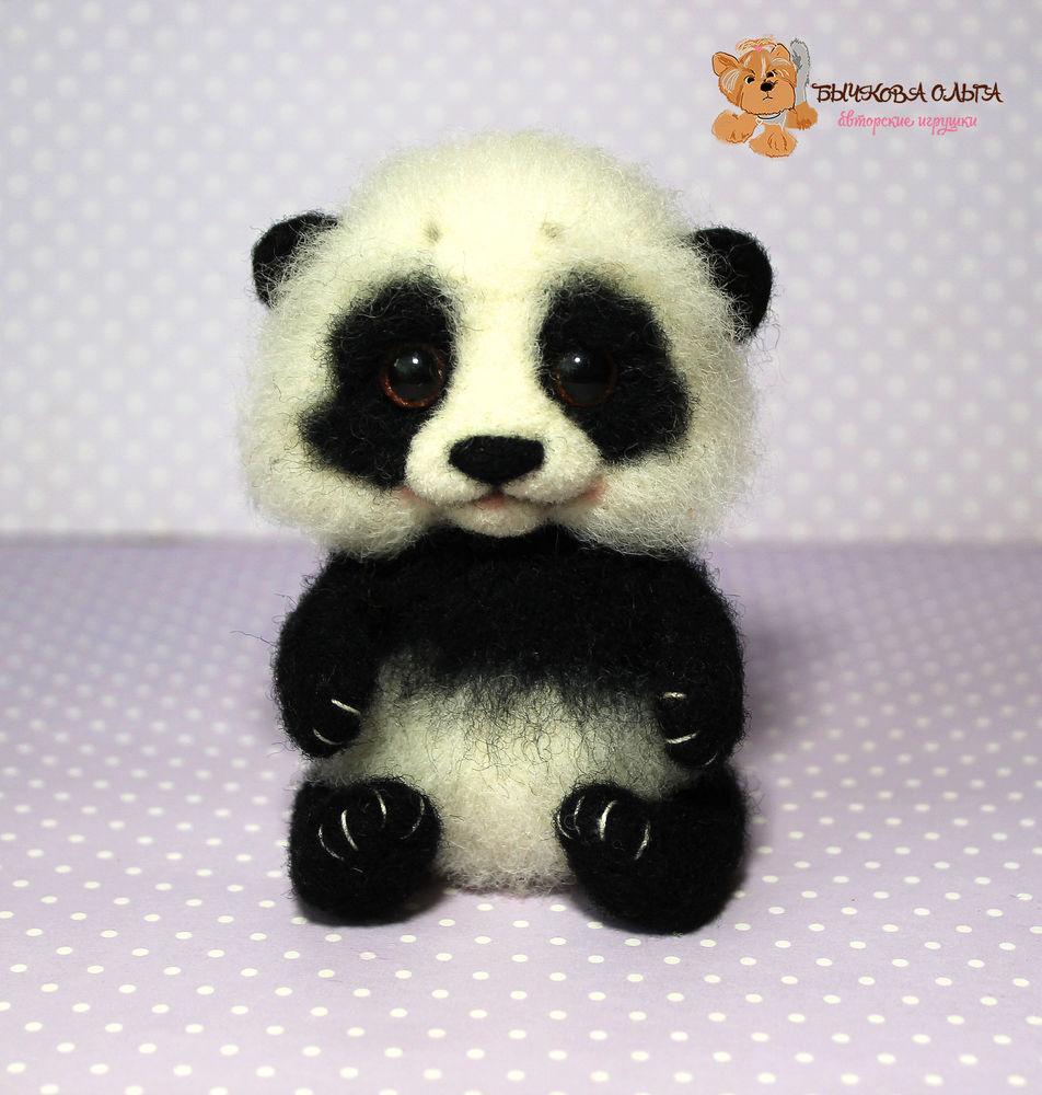 мастер-класс, мк по сухому валянию, обучение, учимся валять, панда игрушка