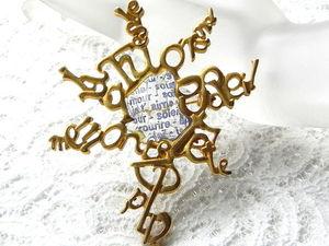 Видео. Брошь Слова любви,Lancome,Франция,Paris. Ярмарка Мастеров - ручная работа, handmade.