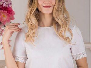 Блуза белая с кружевом. Ярмарка Мастеров - ручная работа, handmade.