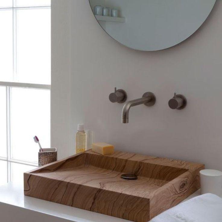 раковина из массива, из тика, раковина в ванную комнату, мебель для ванной