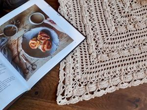 Чуть-чуть про лето, лён и бабушкин сундук. Новая шаль!. Ярмарка Мастеров - ручная работа, handmade.