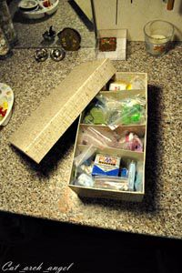 коробка с пластикой