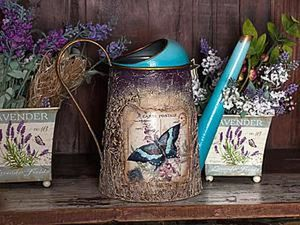 Decorating a Watering Can in the Decoupage Technique. Livemaster - handmade