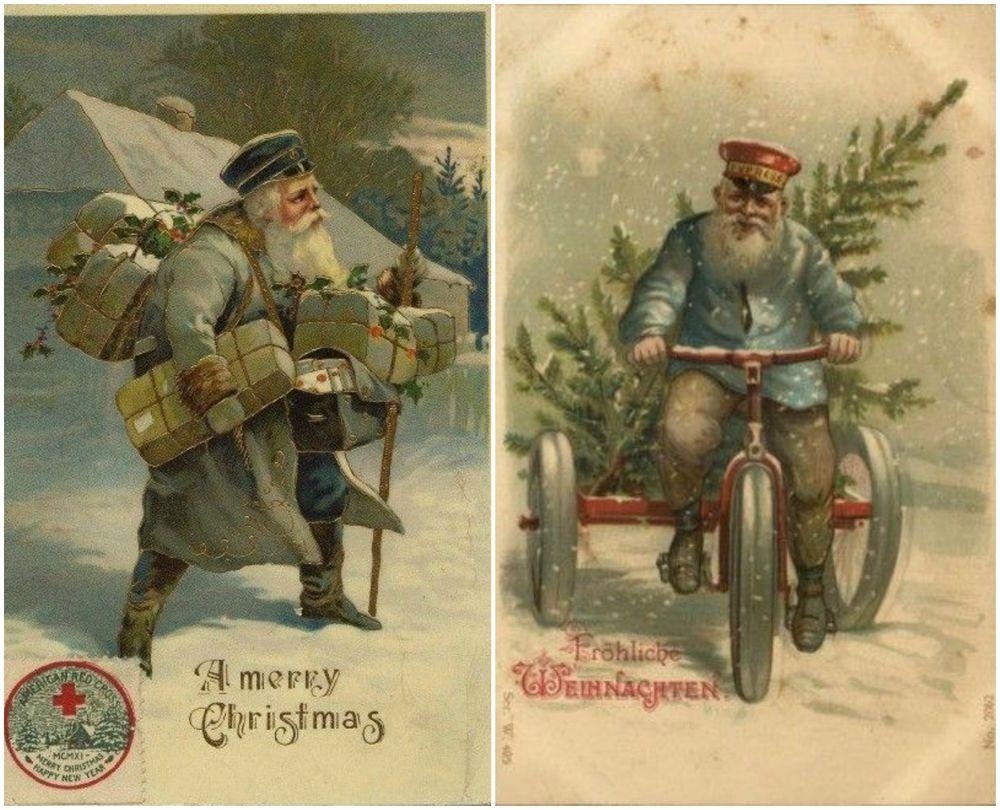 Почтальоны на открытках, пожеланиями