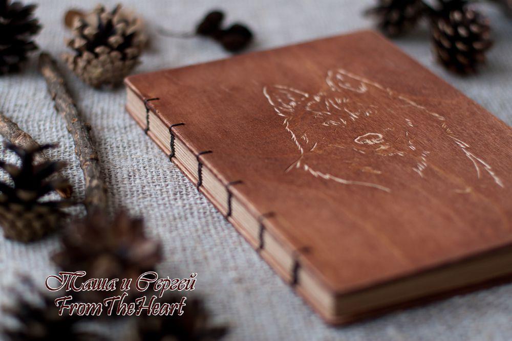 подарок на 23 фквраля, рустик, деревянная книга