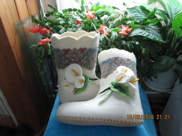 Зимняя домашняя обувь.   Ярмарка Мастеров - ручная работа, handmade