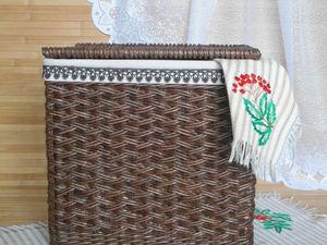 Фотоотчет для Елены :  Плетеная корзина с чехлом   Ярмарка Мастеров - ручная работа, handmade