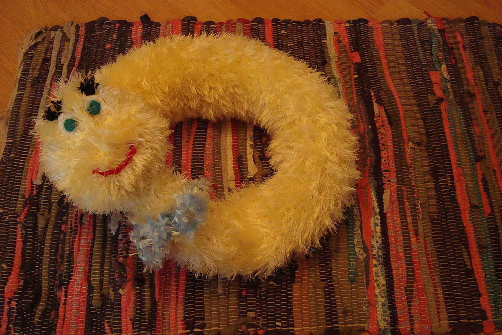 вязаная змея, для фотосессий, для девочки, подарки
