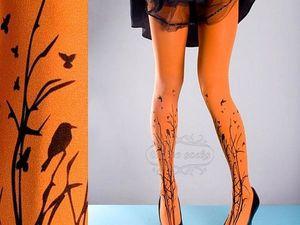 Тату-колготки — альтернатива или конкурент татуировке на ногах?. Ярмарка Мастеров - ручная работа, handmade.