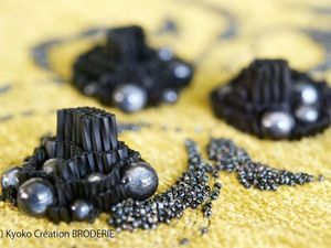 Unusual Way of Placing Glass Beads to Create Dimensional Embroidery. Livemaster - handmade