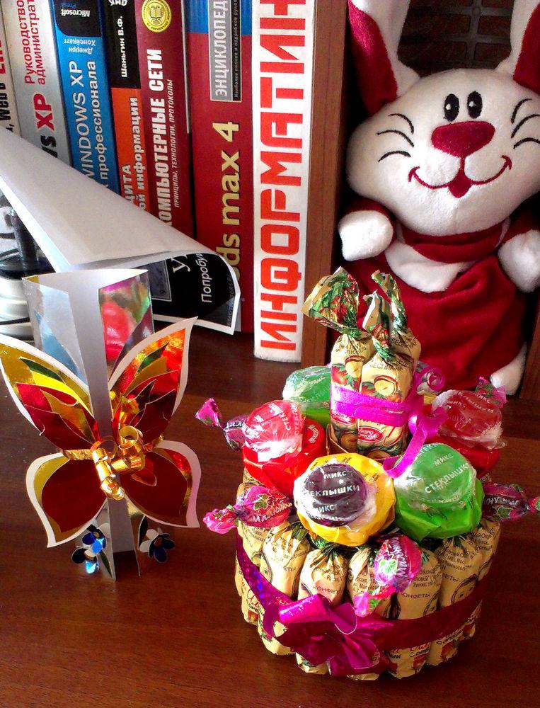 букет из конфет, для женщин