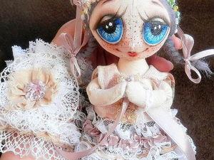 Аукцион. Куколка + кружевная манжета.. Ярмарка Мастеров - ручная работа, handmade.