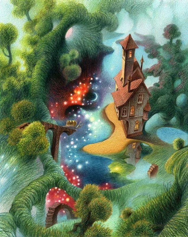 волшебные сказки графические иллюстрации фото свинка