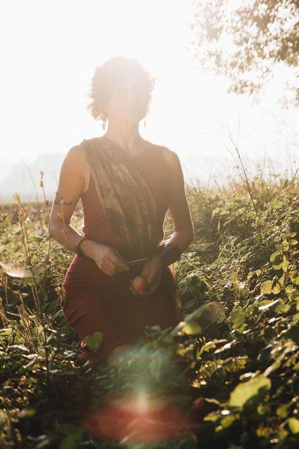 фото, образ, красное платье, эко-мода