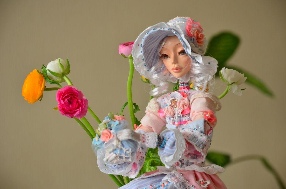 цветочница, интерьерная кукла
