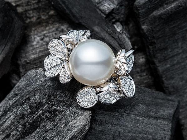 Огромный жемчуг и бриллиантовый клевер в вечерней коллекции Mikimoto | Ярмарка Мастеров - ручная работа, handmade
