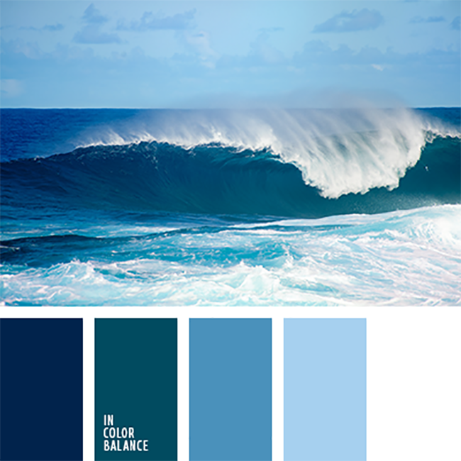 15 for Ocean blue color combinations