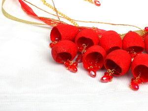 У меня ноаинка!!!! Ожерелье из коконов шелкопряда