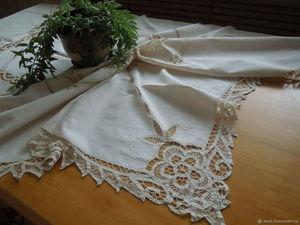 30% на винтажные скатерти и салфетки!. Ярмарка Мастеров - ручная работа, handmade.