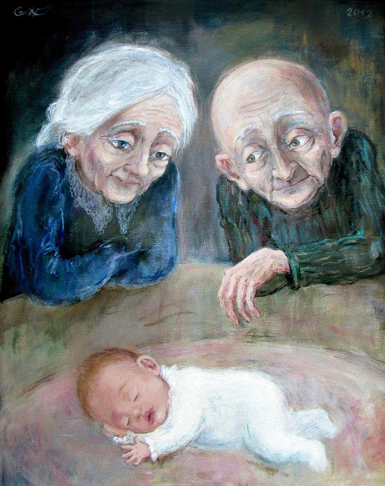 старики в живописи