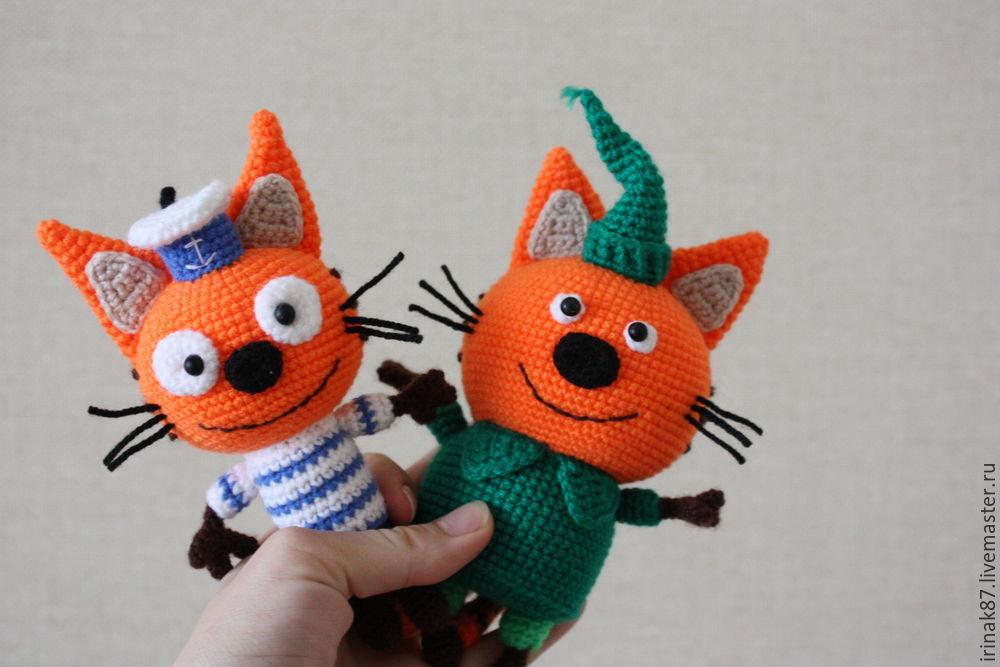 мастер класс вязание котенка компота из мультфильма три кота