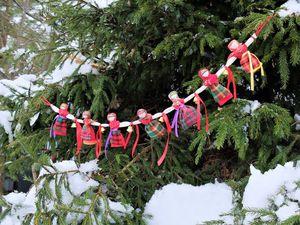 Мастер класс: новогодняя гирлянда «Хоровод» | Ярмарка Мастеров - ручная работа, handmade