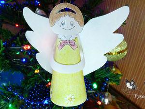 Видеоурок: мастерим ангела из бумаги | Ярмарка Мастеров - ручная работа, handmade