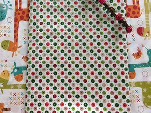 Скидка 28 % (70 руб) на Перкаль Зелено-красный горох на белом. Ярмарка Мастеров - ручная работа, handmade.