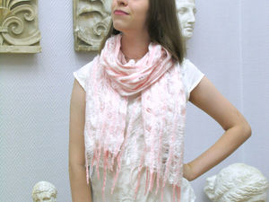 Аукцион на валяный шарф! СТАРТ 1000 рублей. Ярмарка Мастеров - ручная работа, handmade.