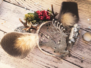 How to Make a Christmas Headband with Deer Horns. Livemaster - handmade