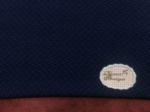 В наличии: Двухцветный горошек на темно-синем. Штапель. Ярмарка Мастеров - ручная работа, handmade.