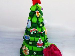 Делаем игровую новогоднюю елочку из фетра. Ярмарка Мастеров - ручная работа, handmade.