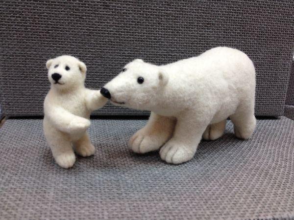 Мастер-класс по валянию белой медведицы или Умки | Ярмарка Мастеров - ручная работа, handmade