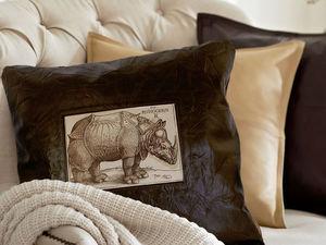 Подушки для интерьера из кожи. Ярмарка Мастеров - ручная работа, handmade.
