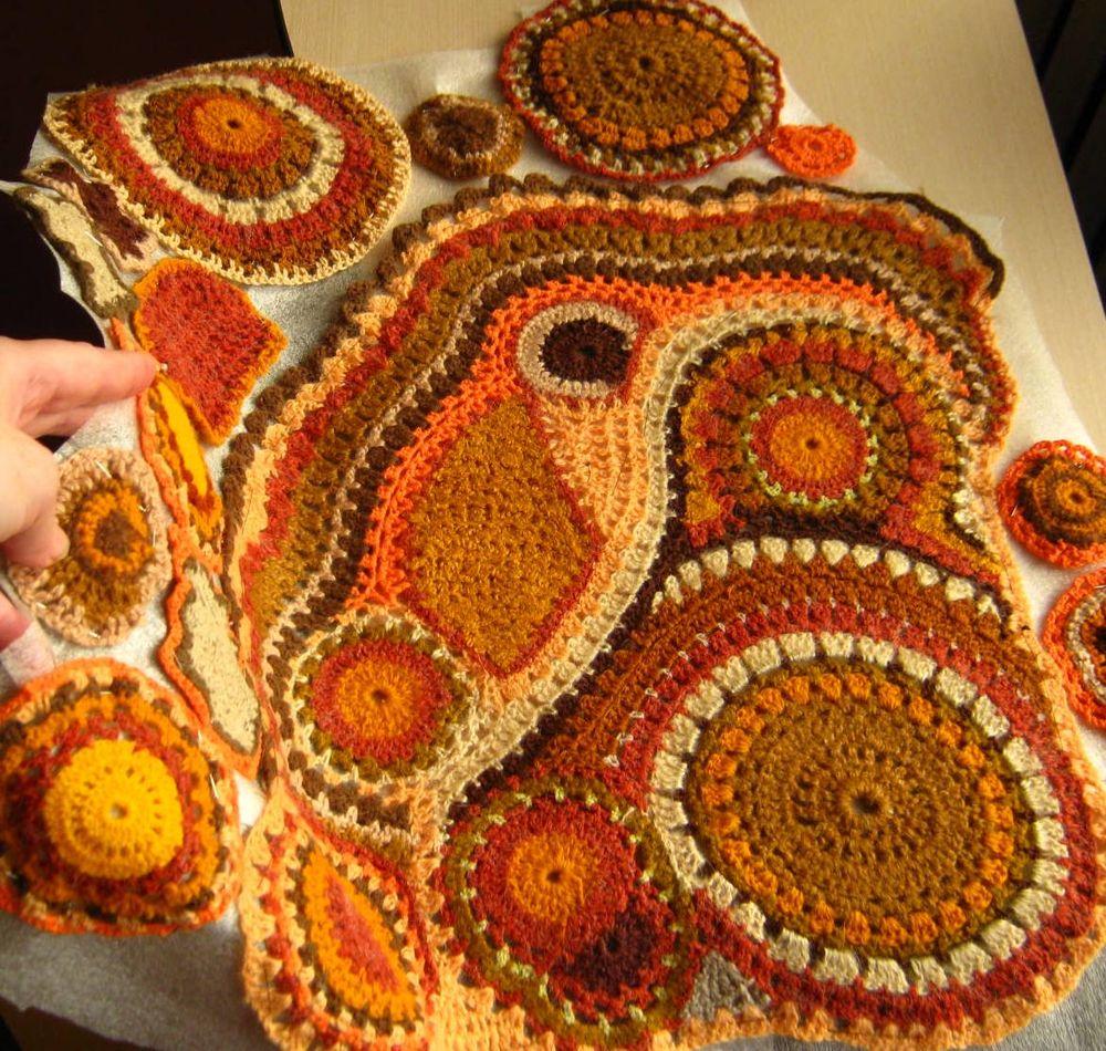 фриформ, freeform crochet