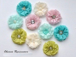 Great Idea: Cloth Flowers for Scrapbooking. Livemaster - handmade