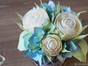 Делаем розы из гофрированной бумаги. Ярмарка Мастеров - ручная работа, handmade.