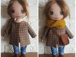 Шьем для куклы пальто со складкой на спинке | Ярмарка Мастеров - ручная работа, handmade
