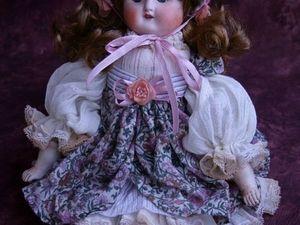 Авторская реконструкция антикварной куклы Сладкий пирожок | Ярмарка Мастеров - ручная работа, handmade