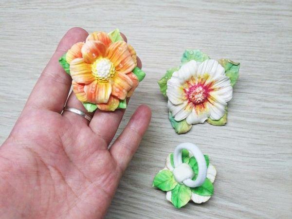 Видео мастер-класс: создаем из полимерной глины заколку-цветок на резинке | Ярмарка Мастеров - ручная работа, handmade