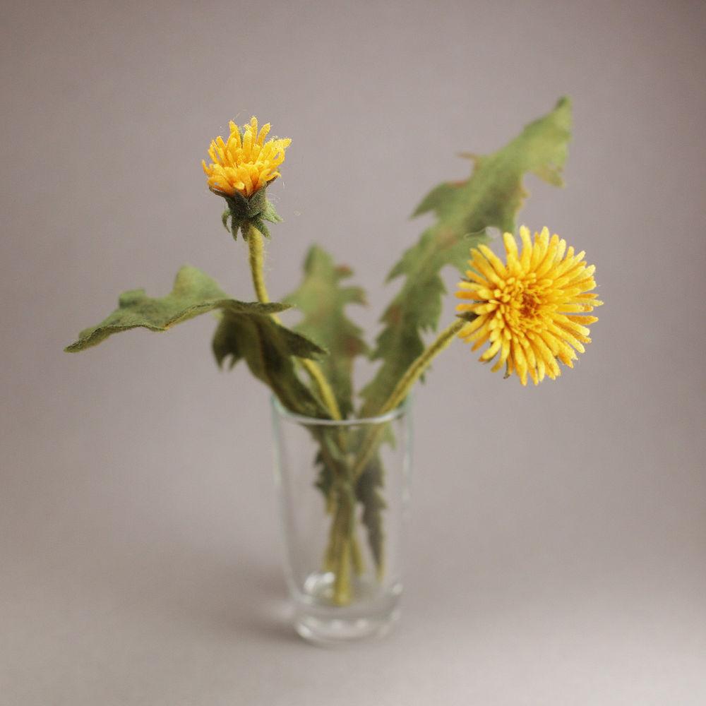 ирина егорова ацикулярис, валяние, миниатюра, клееный фетр, цветы, листья