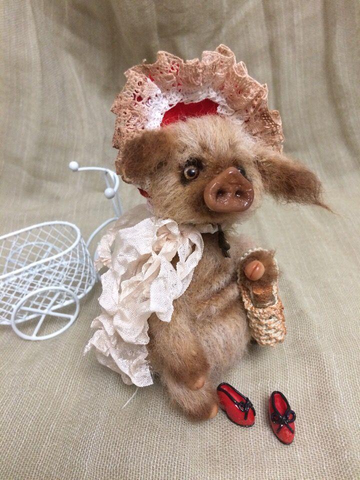 подарок 2019, поросенок, сувенир, игрушка крючком, свинка, игрушка из шерсти