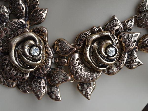 Роскошное колье Розы! для настоящей Королевы! | Ярмарка Мастеров - ручная работа, handmade