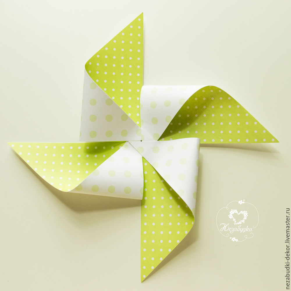 DIY for Kids and Parents: Making a Paper Wind Mill, фото № 9