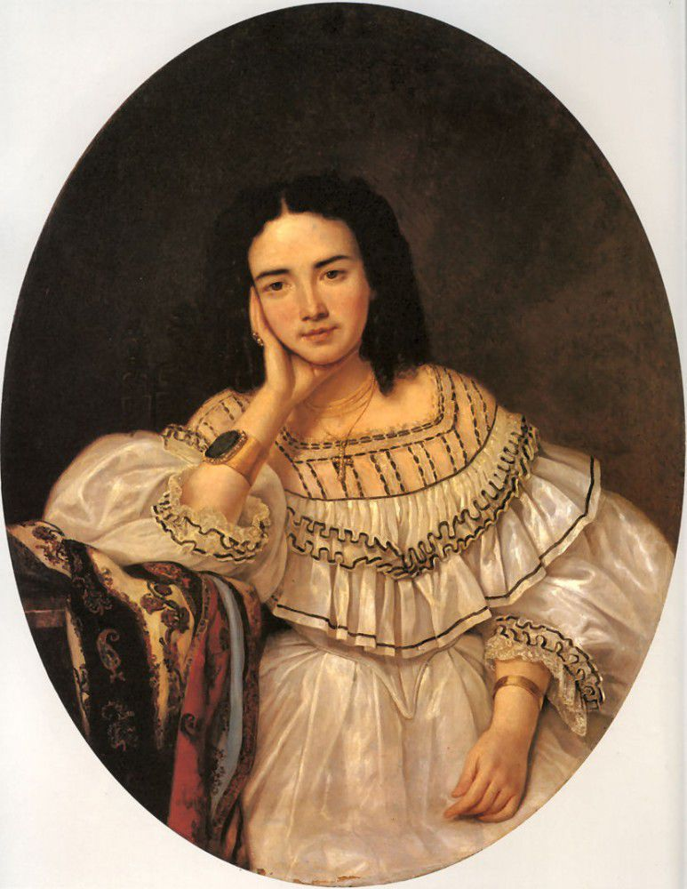 Шемизетка. Неизвестный художник. Портрет неизвестной. 1860-е года. Исторический музей. Москва.