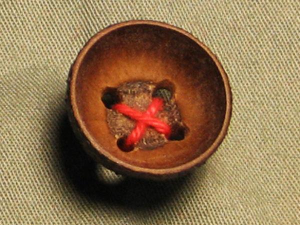 Рождественские эко-пуговицы из плюски жёлудя | Ярмарка Мастеров - ручная работа, handmade